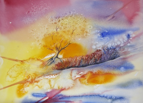 watercolour painting. The last tree?