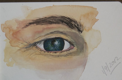 watercolour sketch - eye spy