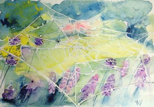 Watercolour card - Hayley's view