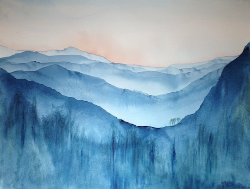 Facing East (watercolour painting)