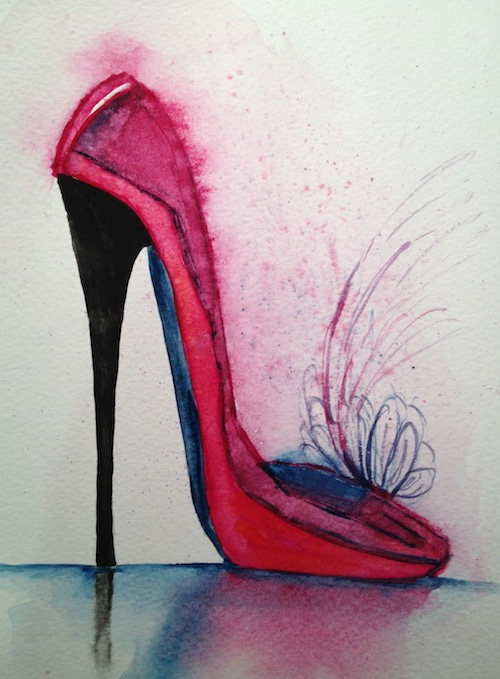 Ready for the Ball (small watercolour)