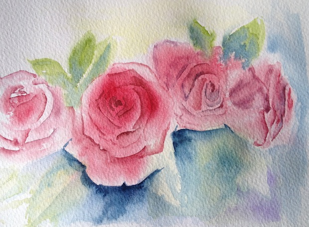 Refined young ladies (small watercolour)