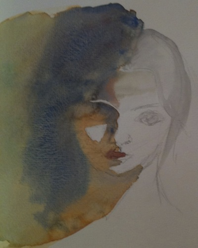 Light and shade (watercolour sketch)