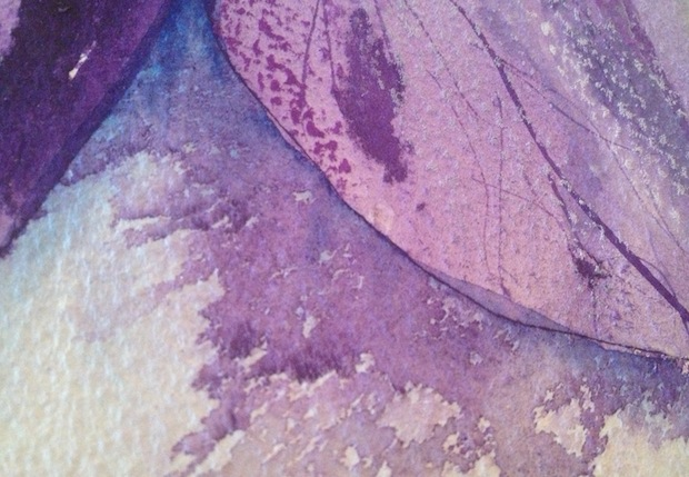 The detail of the way the paint settles on the paper can be a fascinating aspect of a painting.