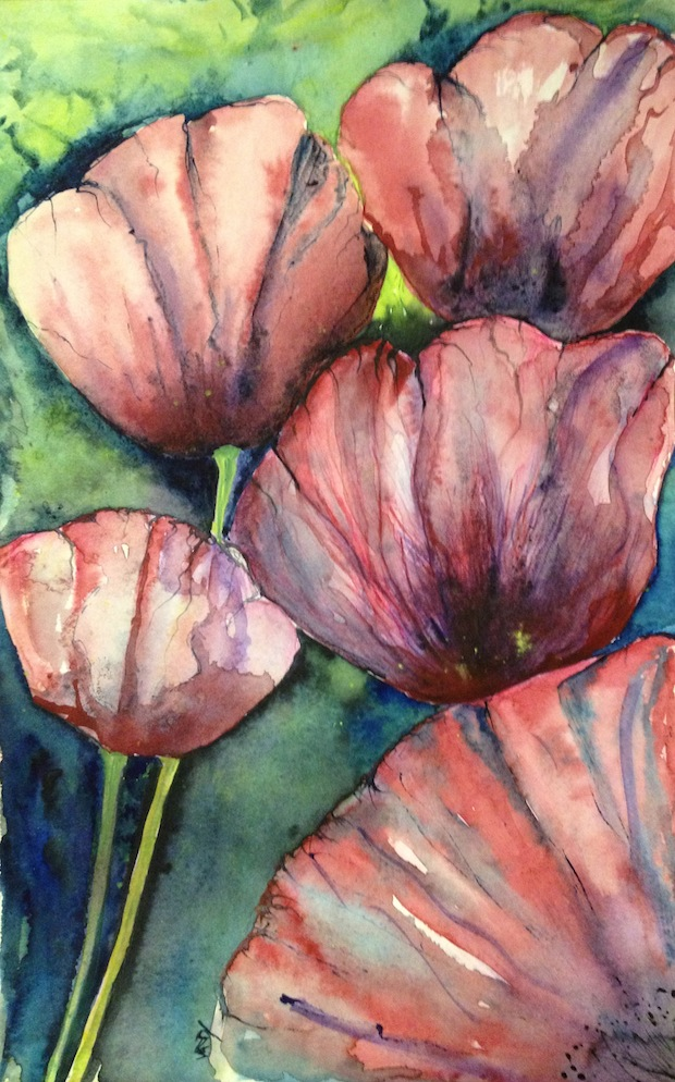 Paper petals (watercolour 29 x 19)