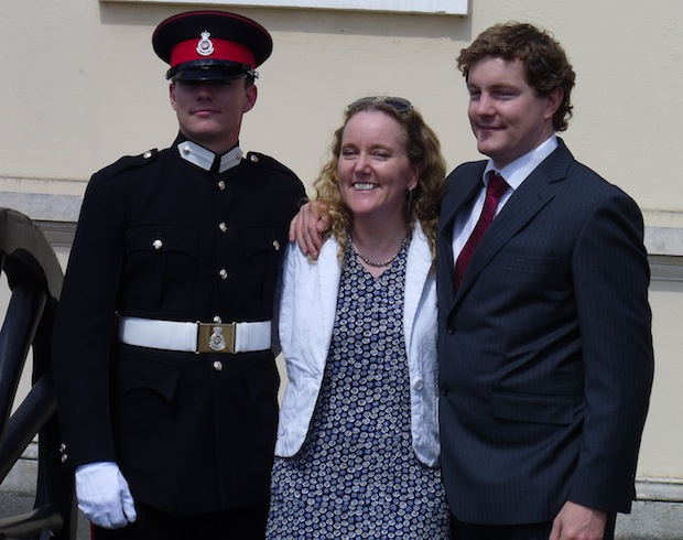 Nic, me and Christopher at Sandhurst