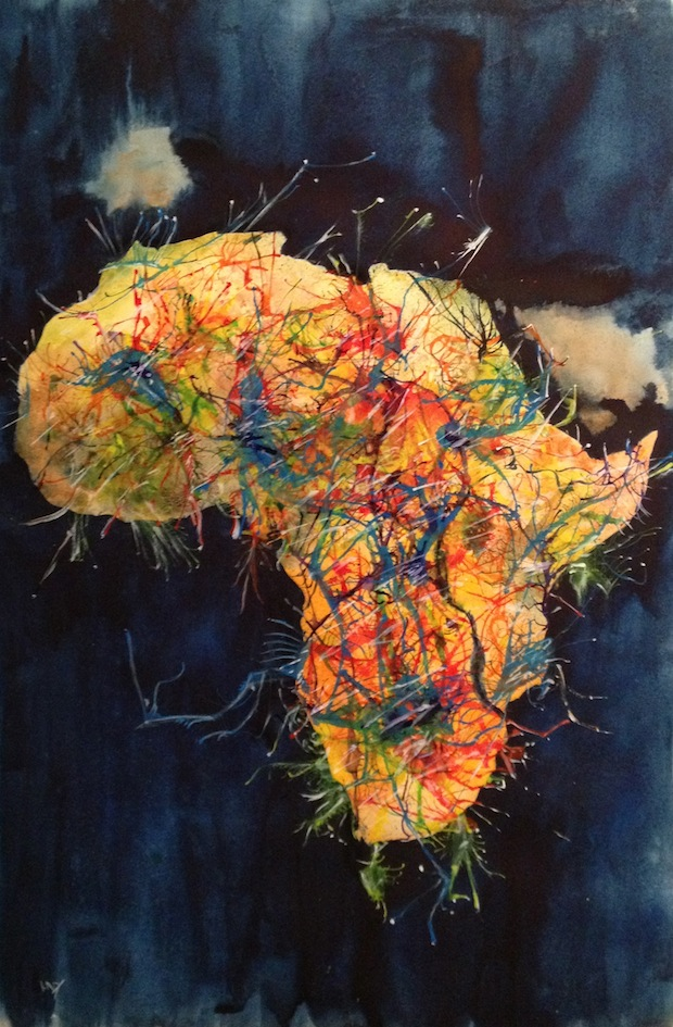 African Energy (multimedia 49 x 36 cm)