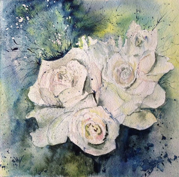 Sally's Posy (Watercolour 20.5cm x 20.5cm)