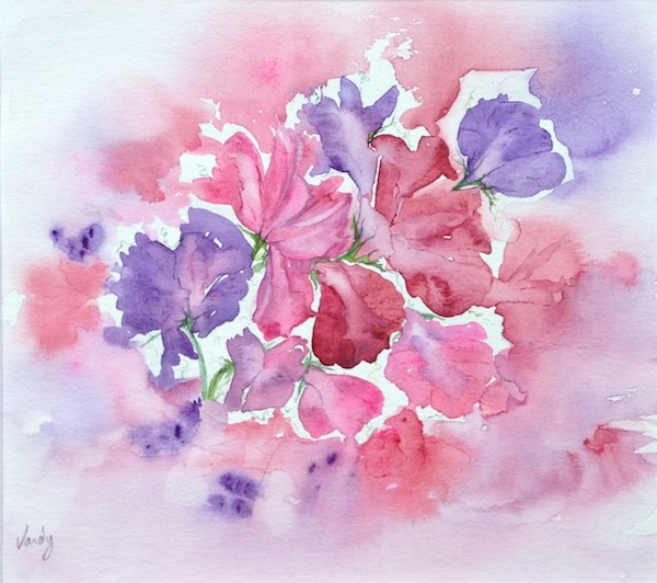 Scented (watercolour 26 x 23 cm)