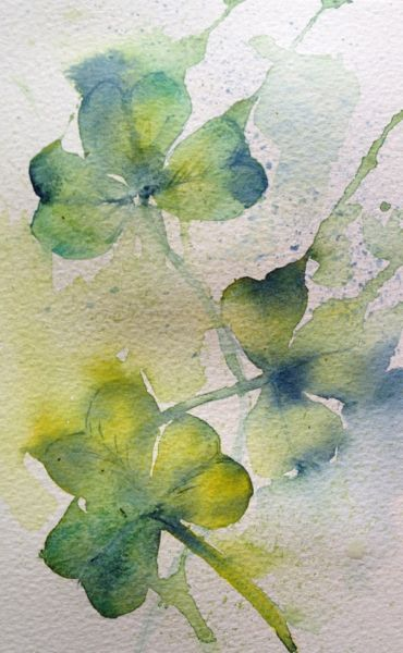 Shamrocks (watercolour sketch)