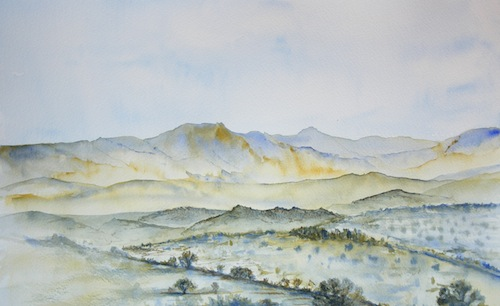 Road to Nowhere (watercolour - 38 x 20cm) SOLD