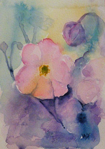 Japanese Anemone (watercolour 4 x 6 inches)