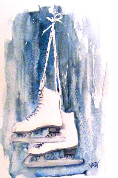 Get Your Skates On (watercolour 4 x 6 inch)