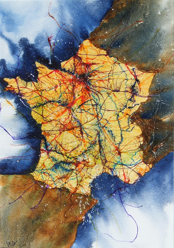 La Belle France (watercolour and acrylic ink 28 x 38cm)