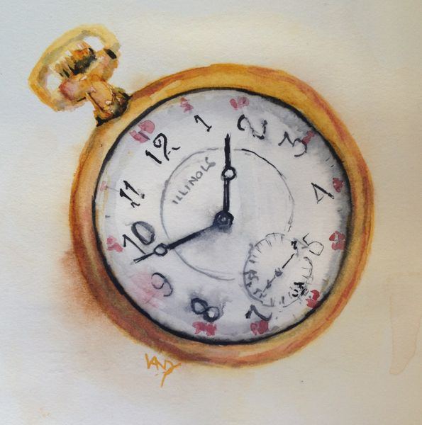 Doug's Watch (watercolour 10 x 10 cm)