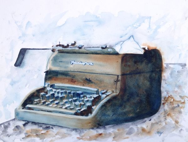 Long Lost Letters (watercolour 38 x 28 cm)