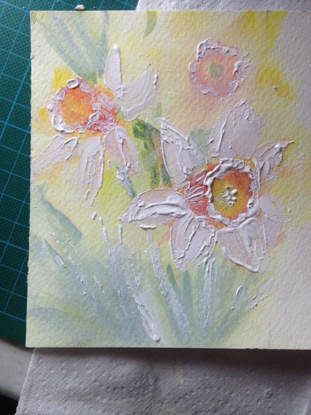 Daffodil studies  with Daniel Smith liquid watercolour