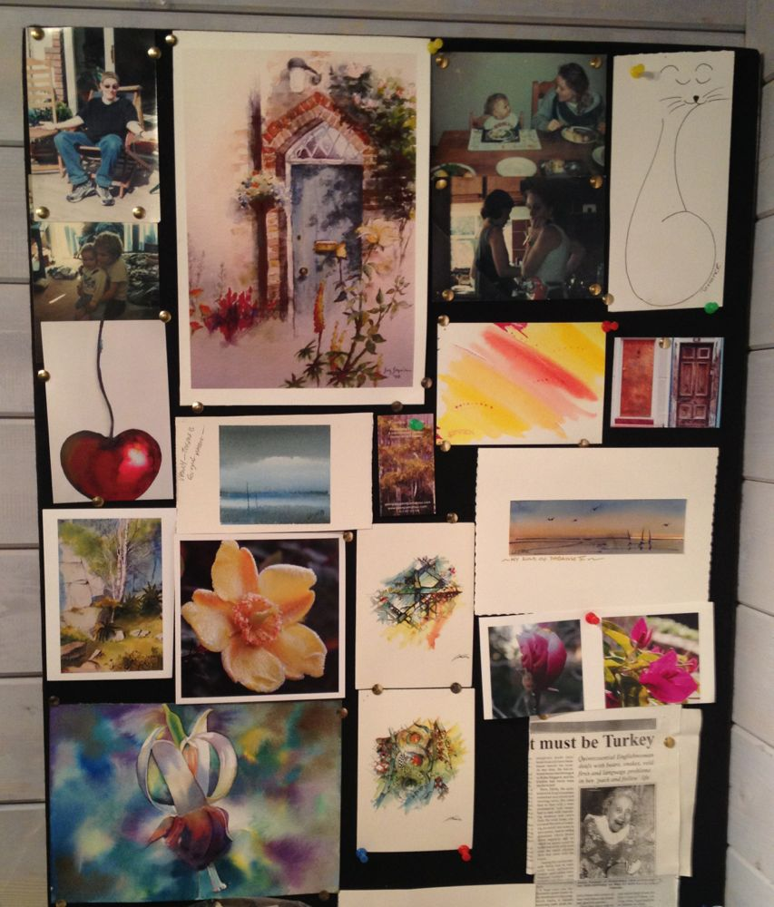 Studio Wall Inspiration Board