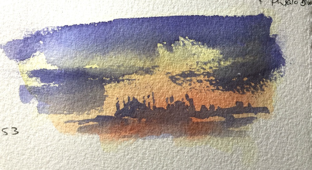 Istanbul watercolour skyline