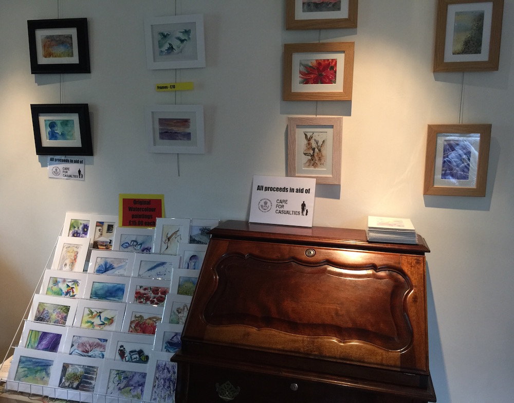 Cambridge Open Studios display
