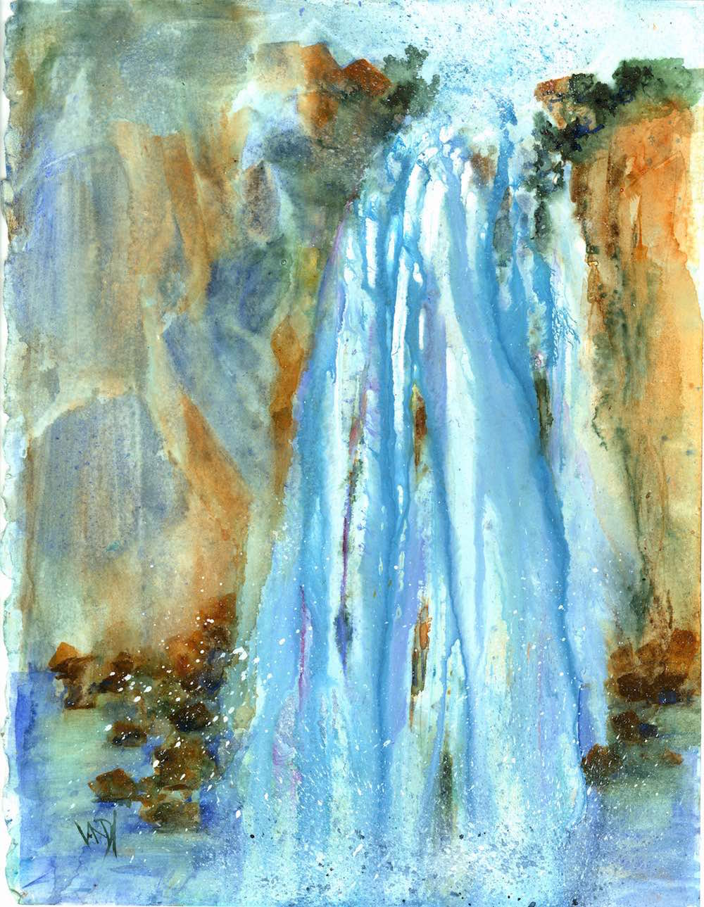 vandymassey.com Cascade Watercolour