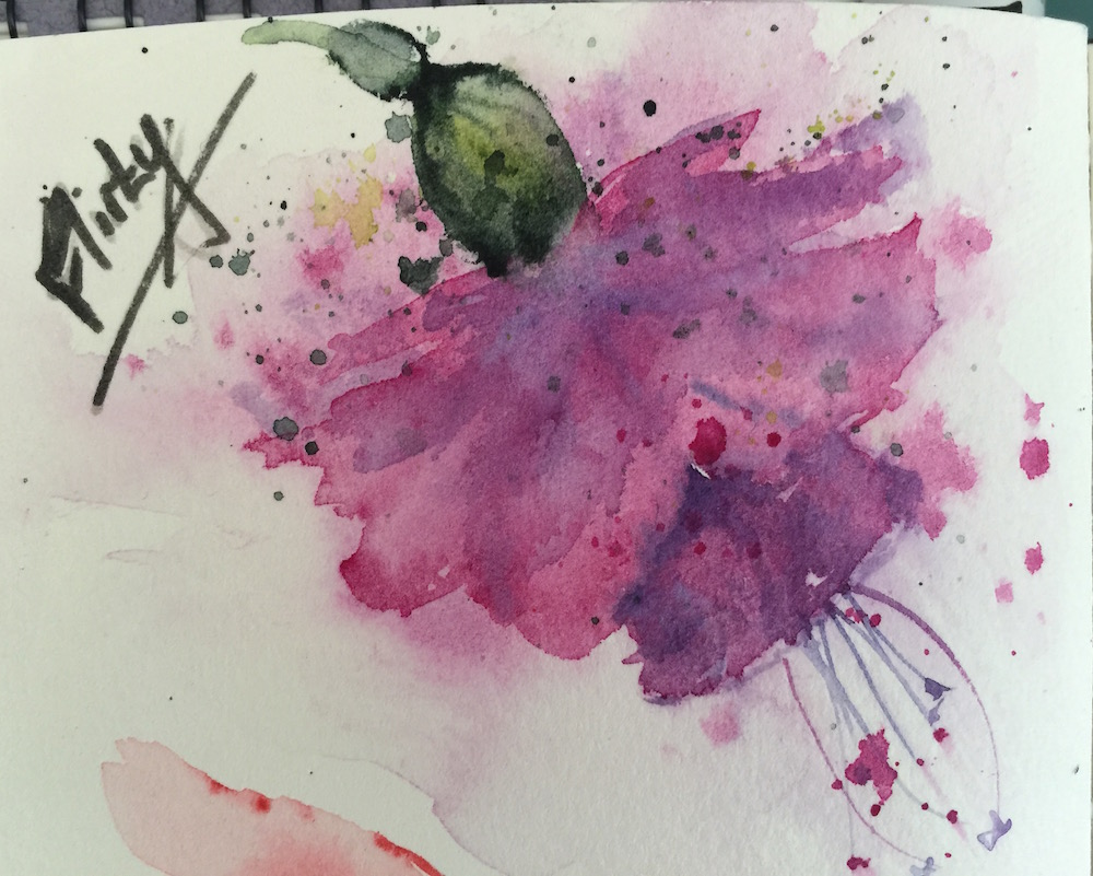 Watercolour Journal - Flirty Fuschia