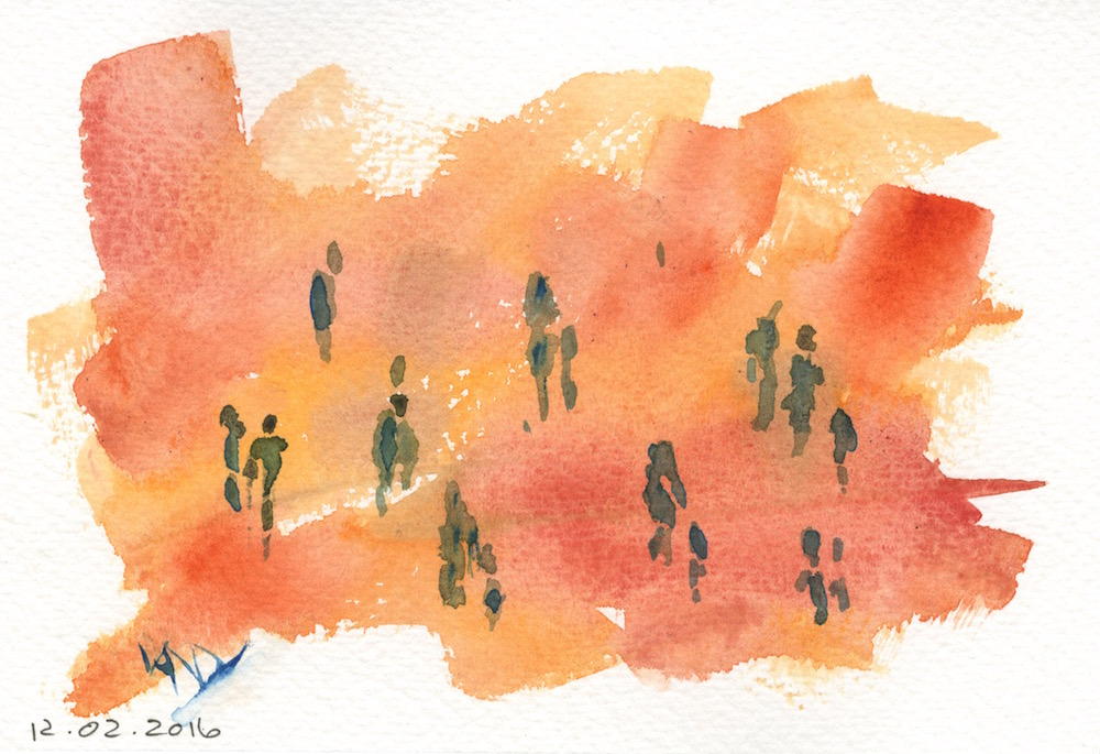 abstract watercolours 2016.02.12 Friday morning shopping