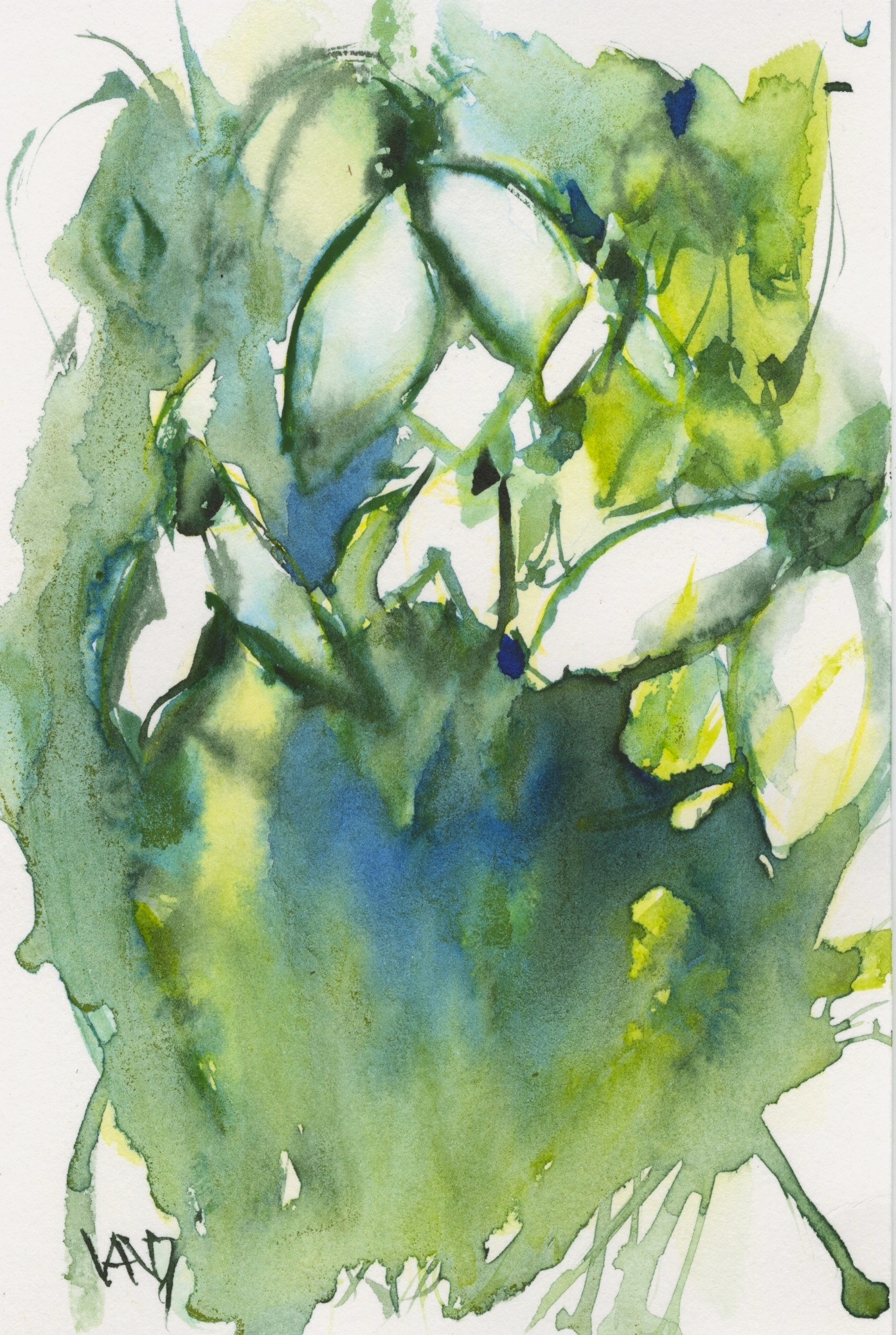 abstract watercolours 2016.02.15 beginnings