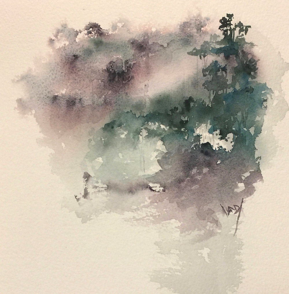 Watercolour - Rainforest in the Rain