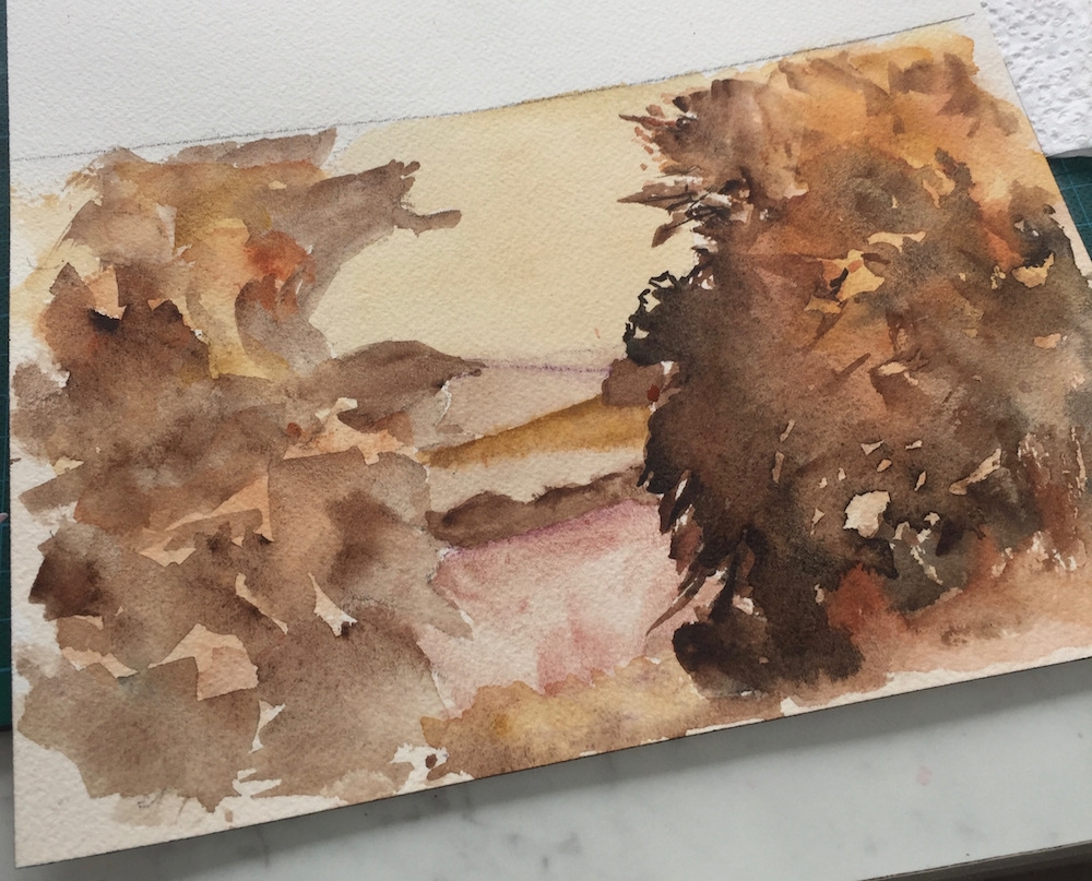 Layering Watercolour 1 Work in progress by Vandy Massey