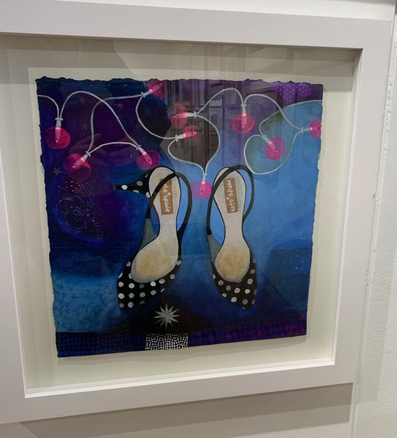 Kitten Heels with Fairy Lights by Gertie Young RWS