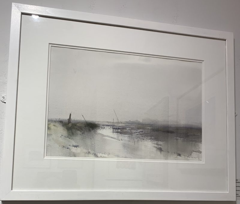 Royal Institute of Painters in Water Colours exhibition - Morston Quay by Chris Robinson
