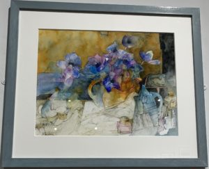 Still Life with a Yellow Jug of Anemones by Shirley Trevena RI