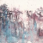 Rainforest Heights - small watercolour by Vandy Massey. Part of a 1000 watercolour project.