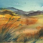 Long Grass - Small Watercolour by Vandy Massey. Part of a 1000 watercolour project